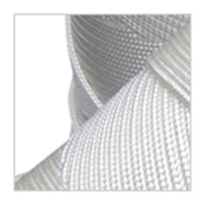Immagine di Cavalieri Treccia Piattina HT 443 Bianca 1 mm