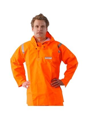 Immagine di Ocean Giacca Chiusa Arancio con polsini elasticizzati