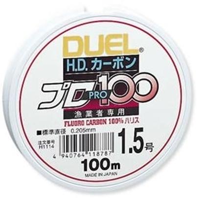 Immagine di Duel H.D. Carbon PRO100 Fluorocarbon 100%  100 mt
