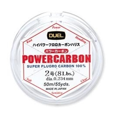 Immagine di Duel Powercarbon Fluorocarbon 100% 50 mt 0.369 mm