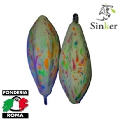 Immagine di C1 Bomb anello inox plastificato Multicolore Fluo
