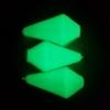 Immagine di Bolentino Quadrifaccettato Plastificato Bianco / Verde Super Fluorescente