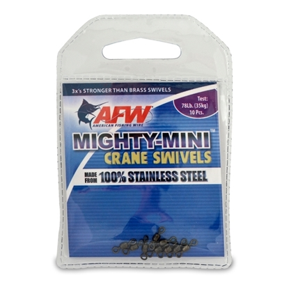 Immagine di AFW Mighty Mini Stainless Steel Crane Swivels (Conf. 10 Pz)
