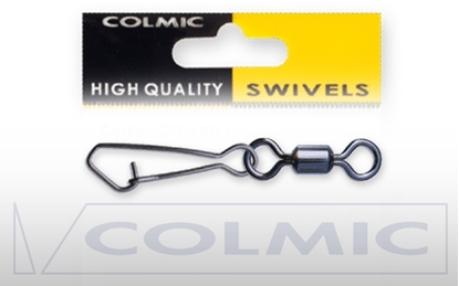 Immagine di Colmic Rolling Swivel with Hooked Snap Black