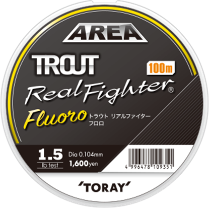 Immagine di Toray Trout Real Fighter Fluoro 100 mt