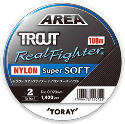 Immagine di Toray Trout Real Fighter Nylon Super Soft 100 mt
