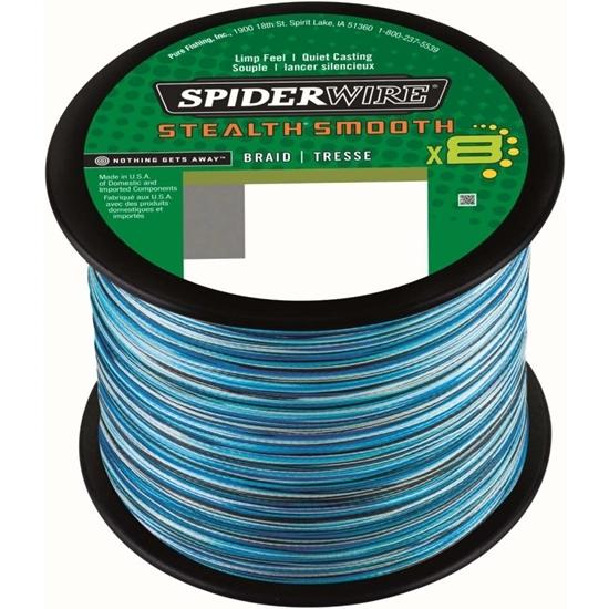 Immagine di Spiderwire Stealth Smooth 8 Blue Camo 1800 mt
