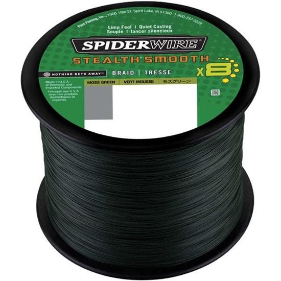 Immagine di Spiderwire Stealth Smooth 8 Moss Green 1800 mt